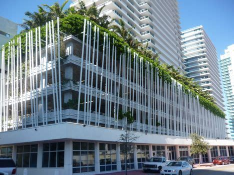How Big Is A One Car Garage by Arquitectonica Greenwraps A Parking Garage Treehugger