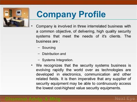 information technology company profile template cctv