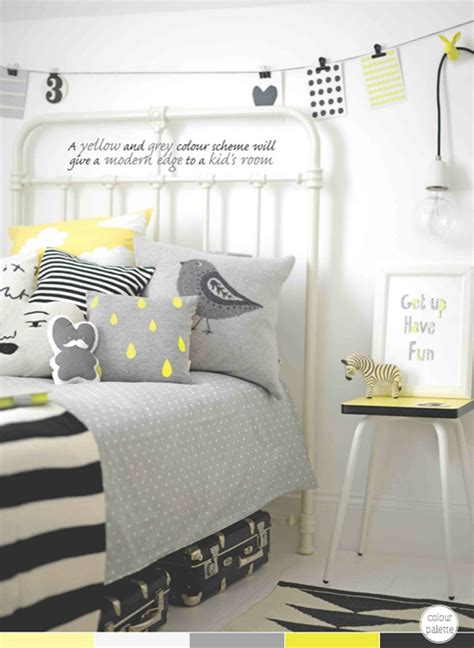 black grey and yellow bedroom photography by max