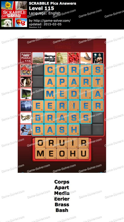 scrabble answer generator scrabble pics level 115 solver