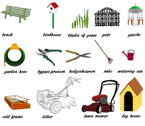 picture dictionary garden tools  tips learn