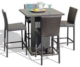 Patio Bar Table And Chairs Venus Pub Table Set With Barstools 5 Outdoor Wicker Patio Furniture Contemporary