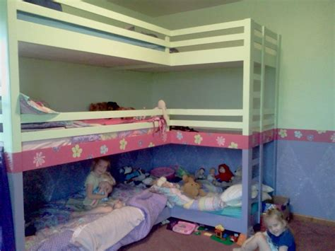 Three Bed Bunk Bed Bunk Bed Loft Ideas Loft Bunk Bed For Overcrowded Condition Babytimeexpo Furniture