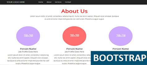 bootstrap templates for about us about us round open source template