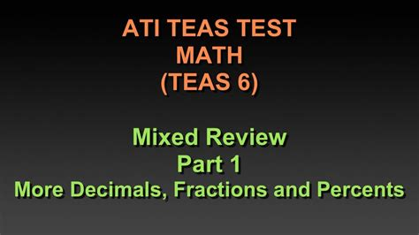 teas test sections ati teas 6 math mixed review part 1 more fractions