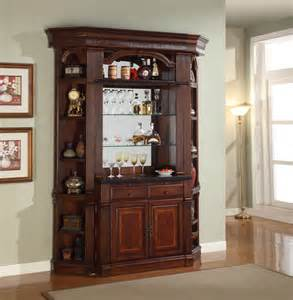 Home Bar With Granite Top by House Wellington Antique Chestnut Finished Home Bar
