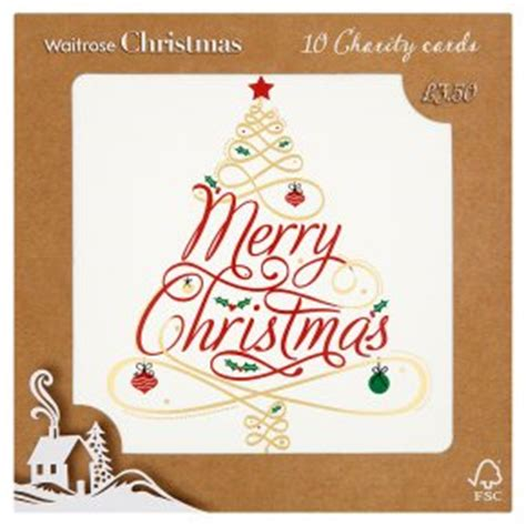 waitrose christmas scrolled text cards waitrose