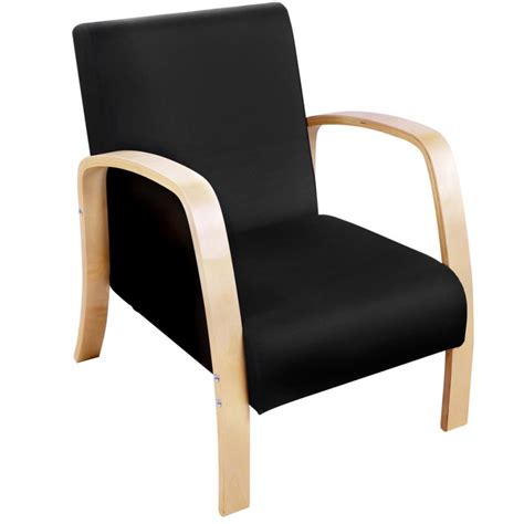 Sofa Armchair by Birch Plywood Fabric Lounge Armchair In Black Buy