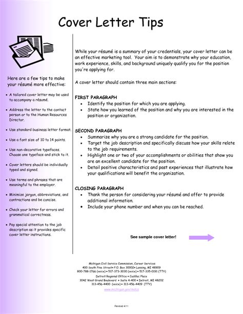 tips for cover letter tips for writing a cover letter for a application