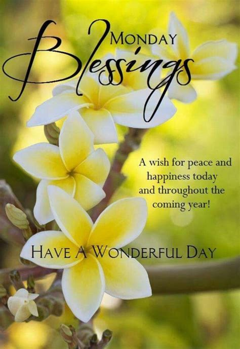 monday morning quotes blessings