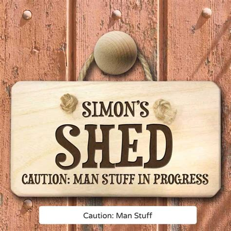 Personalised Signs For Sheds by Personalised Shed Sign Buy From Prezzybox