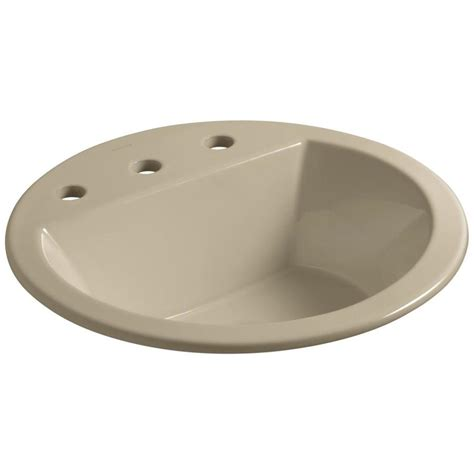 kohler round bathroom sinks shop kohler bryant mexican sand drop in round bathroom