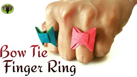 How To Make Fingers Out Of Paper - bow tie finger ring diy origami tutorial by paper