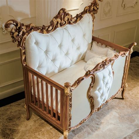 newborn bed antique rococo beech wood customized new born baby bed