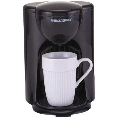 Black Amp Decker American Coffee Maker One Cup Capacity