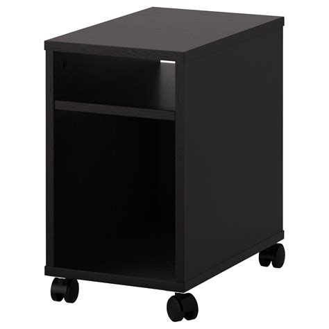small desk on wheels black color custom small nightstand table with storage and