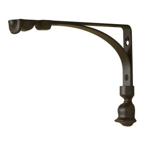 decorative shelf brackets home depot rubbermaid 6 in l x 8 in h bronze steel tulip decorative