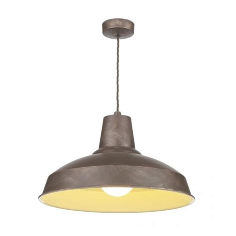 Industrial Style Pendant Lights Reclamation Vintage Style Ceiling Pendant Light Weathered Bronze Finish