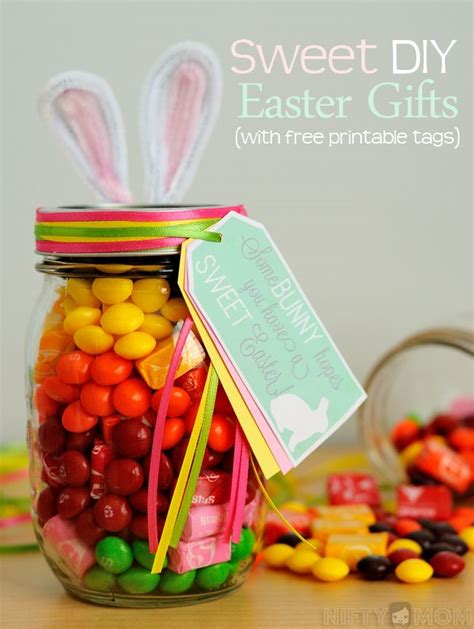 diy easter gifts diy easter gift ideas with free printable tags from nifty