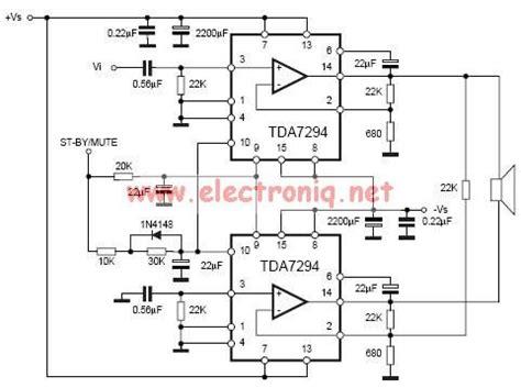 bridged lifier diagram audio lifier circuit page 26 audio circuits next gr