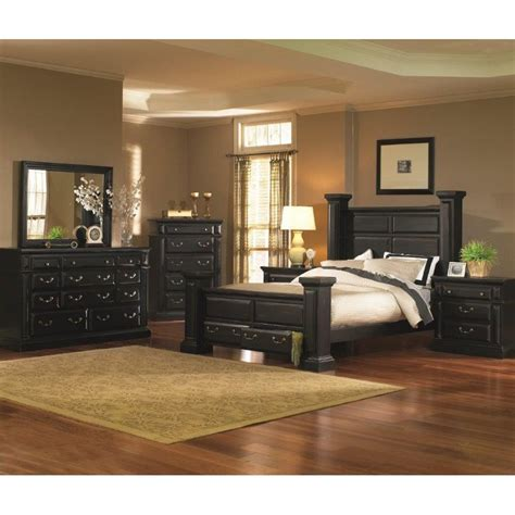 torreon black  piece queen bedroom set