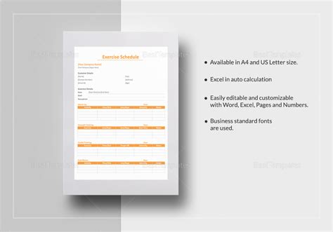 agenda template for apple pages amazing exercise schedule template images exle resume