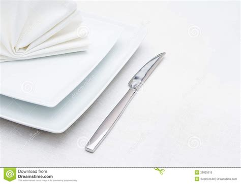 fancy place setting stock photo image of folded fancy white place setting with knife and folded napkin royalty