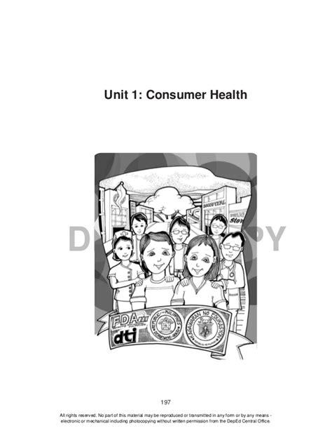 Grade 10 Health - Learning Material {Unit 1: Consumer Health}
