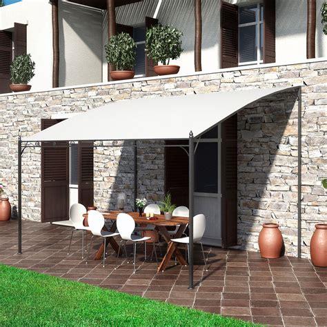gazebo metallo pergola a parete 3x4 gazebo da esterno per veranda in