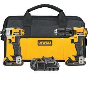 dewalt 20 volt max lithium ion cordless combo kit 2 tool