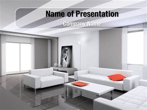 Apartment Design Ppt Interior Design Of Living Room Powerpoint Templates
