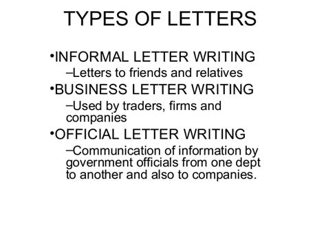 Different Kinds Of Business Letter According To Purpose letter drafting ppt 15 feb