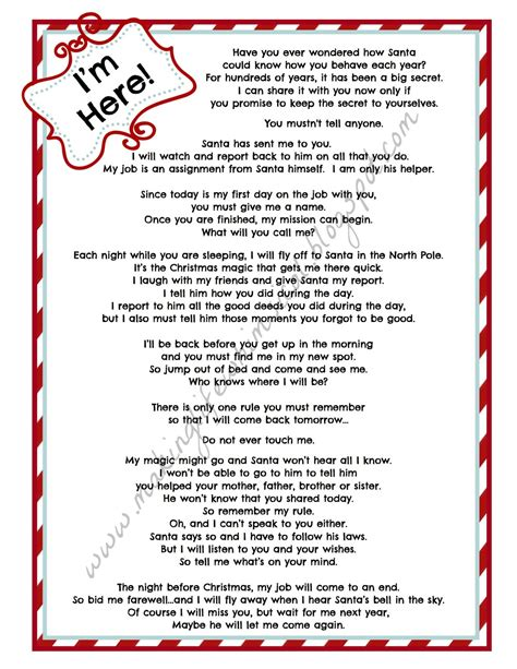Printable Elf On The Shelf Arrival Letter | search results for elf on the shelf goodbye letter