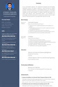 Automation Test Engineer Sle Resume by Automation Engineer Resume Sles Visualcv Resume Sles Database