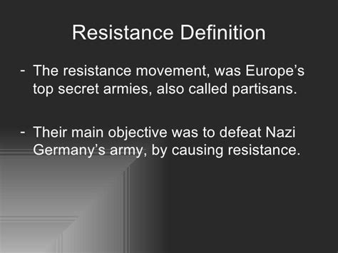 resistor definition person resistance in the holocaust