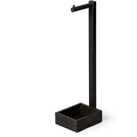wireworks dark oak freestanding toilet roll holder