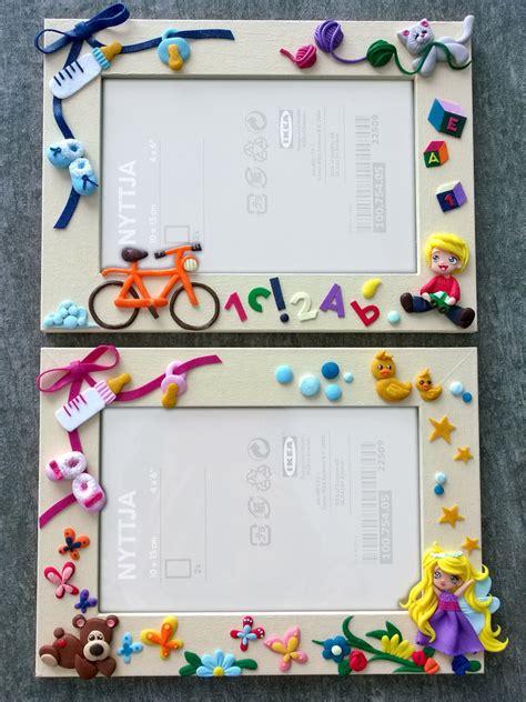 decorazioni per cornici cornici personalizzate con decorazioni in fimo per la