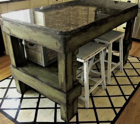 rustic kitchen island table 38 best kitchen island on wheels images on pinterest