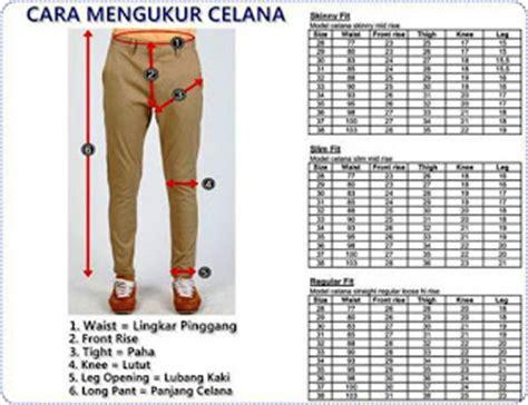 Celana Fluffy Celana Panjang Size 1 2 3 1 Sai 4 Thn 1 Pc tips menentukan ukuran celana pria wanita cds