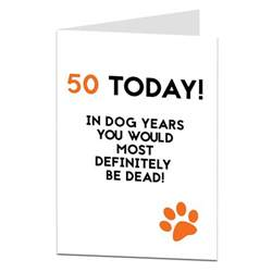 50th birthday card designed printed by lima lima