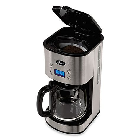 Coffee Maker Stainless 0027200006 oster 174 12 cup stainless steel programmable coffee maker bed bath beyond