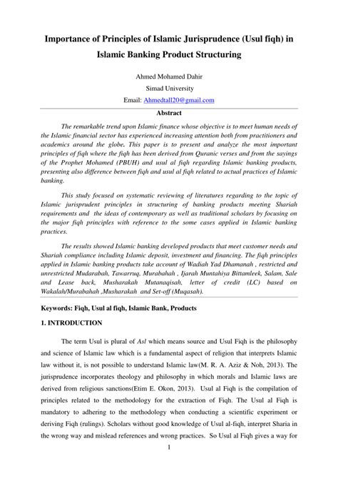 Letter Of Credit Bank Islam Importance Of Principles Islamic Jurisprudence Usul Fiqh In Banking Product Structuring Pdf