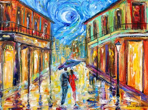 paint nite orleans original painting new orleans starry palette knife