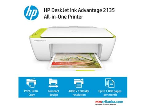 Printer Multifungsi Hp 2135 Print Scan Copy hp deskjet ink advantage 2135 all in one printer printer scanner copy