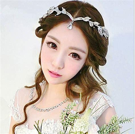 Headpiece Headpiece Pengantin 3 crown bridal hair accessory wedding rhinestone waterdrop leaf tiara crown headband