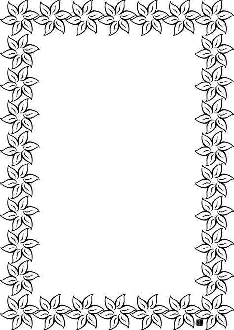 cornici foglio cornice fiori disegno da colorare gratis disegni da