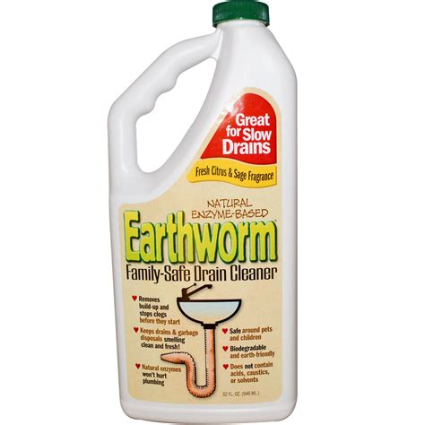 Drain Cleaner Iherb Customer Reviews Earthworm Family Safe Drain