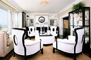 Black And White Chairs Living Room Design Ideas Black And White Contemporary Interior Design Ideas For