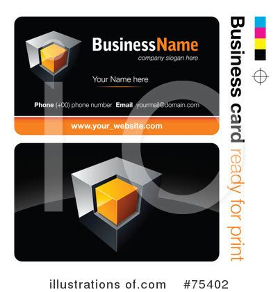 royalty free business card templates business card template clipart 75402 illustration by beboy