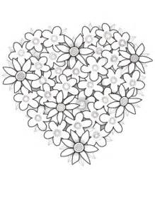 coloring pages for adults hearts hearts flowers coloring pages for gt gt disney coloring